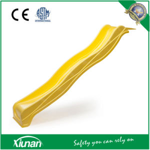 2.2m Yellow Wavy Slide for Swing Sets pictures & photos