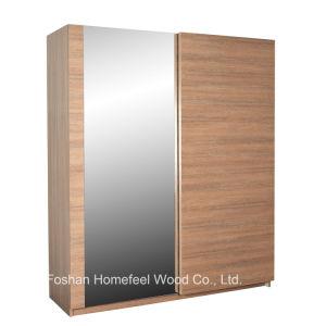 Elegant Nice Deco Bedroom Mirrored Sliding Wardrobe (WB70) pictures & photos