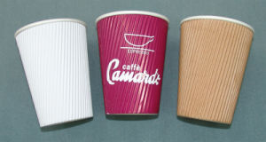 8oz 12oz Ripple Paper Cup pictures & photos