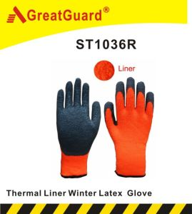 Winter Thermal Liner Latex Glove pictures & photos