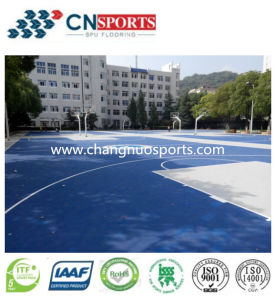 6mm Thickness Silicon PU for Outdoor Sport Courts Flooring pictures & photos