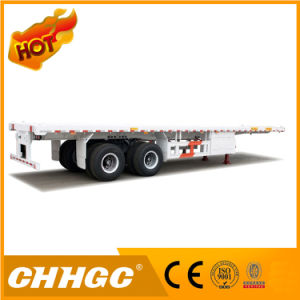 40 FT 2 Axle Flatbed Container Semi Trailer pictures & photos