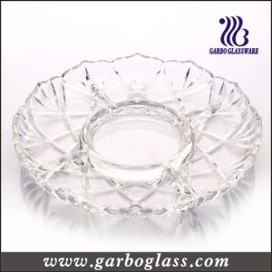 Simple Design Glass Round Plate pictures & photos