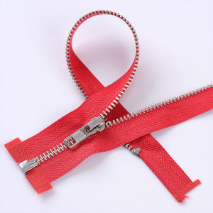 Nickel Zipper Open End Auto-Lock (3#, 3.5#, 4#, 4.5#, 5#, 8#, 10#) pictures & photos