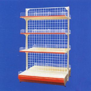 Wire Mesh Singel Side Shelving Steel Display Shelf for Supermarket pictures & photos