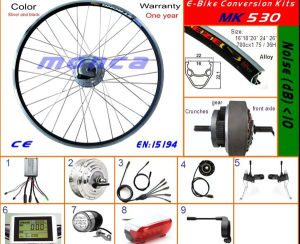 Electric Bicycle Kit with 250W Front Brushless DC Hub Motor Kit pictures & photos