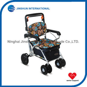 Rollator Shopping Trolley with Seat for Elderly pictures & photos
