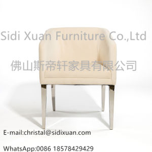 China Supplier High Gloss Leather Stainless Steel Frame Dining Chair for Hotel Home Furniture pictures & photos