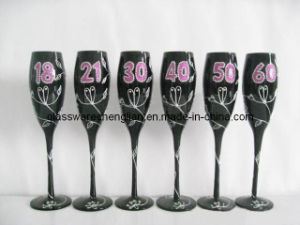 Nice Hand Painted Champagne Glass Gift (B-837) pictures & photos