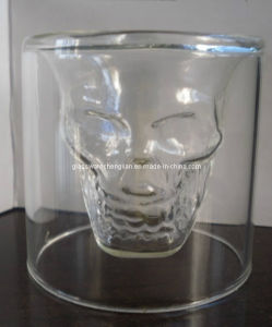 High Borosilicate Double Wall Skull Shot Glass (B-DBW01) pictures & photos