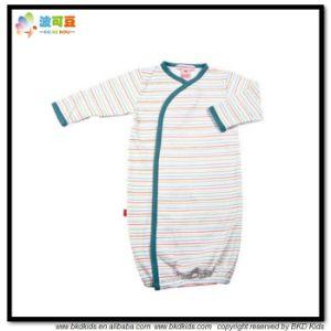 Stripe Printing Baby Garment Kimino Style Newborn Sleeping Jumpsuit pictures & photos