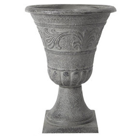 Chinese Grey Bronze Cup Shape Plastic Pot pictures & photos