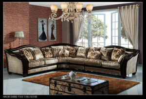 Living Room Classic Furniture Hot Selling Wooden Fabric Corner Sofa pictures & photos