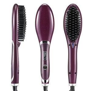 Digital Electric Hair Straightener Comb Heating Detangling Brush EU/ Us/ UK Plug pictures & photos