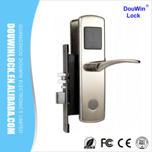 Ce Certificated ANSI Mortise Hotel Key Card Electronic Door Lock pictures & photos