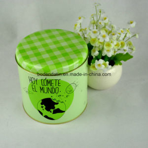 Custom Made Small Gift Tea Tin Box with Cmyk Printing
