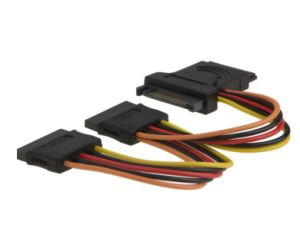 SATA 15-Pin Male to 3X15-Pin Female Power Extension Y Splitter Cable Adapter pictures & photos