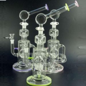 Colorful Glass Water Pipes Green Pink Purple Smoking Pipes pictures & photos