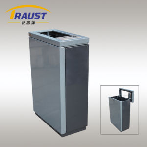 Outdoor Stainless Steel Trash Bin with Ashtray pictures & photos