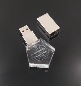 USB 2.0 Flash Drive Memory 3D Inside Logo Custom Photography Glass Crystal pictures & photos