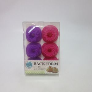 Set of 6 Mini Silicone Backform Cake Mould pictures & photos