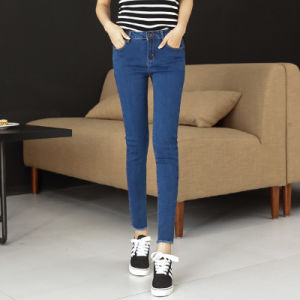Cotton Pencil Jeans for Young Lady pictures & photos