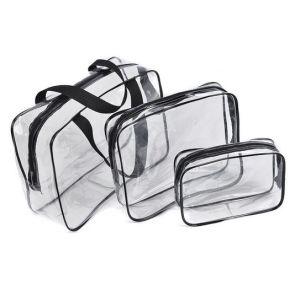 Wholesale Custom Transparent Waterproof Plastic Zipper PVC Cosmetic Bag pictures & photos