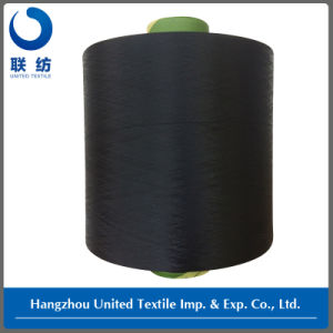 100% Polyester DTY Dope Dyed Black Weaving Yarn (150D/48F NIM) pictures & photos