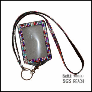 Multi Color Bling Rhinestone Lanyard with ID Badge Holder and Key Holder pictures & photos