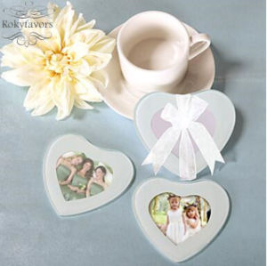 Heart Photo Glass Coaster Wedding Favors Baby Shower