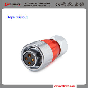 Clinko Brand 4pin Electrical Connector Power Application Metal Connector Female Gender Plug pictures & photos