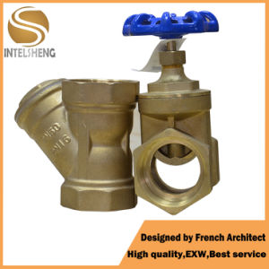 Wheel Handle Forged Brass Bronze Gate Valve pictures & photos