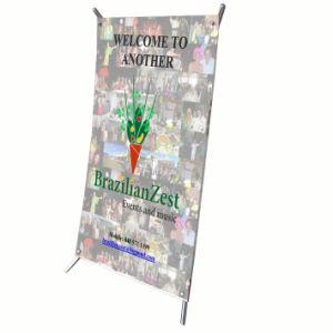 Common Plastic Desktop Mini X Banner Stand pictures & photos