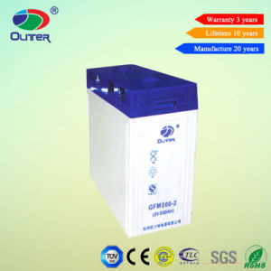 Maintain Free VRLA Lead Acid Battery Deep Cycle Soalr Battery 2V-800ah