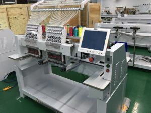 10 Inches Touch Screen 2 Head Embroidery Machine Price pictures & photos