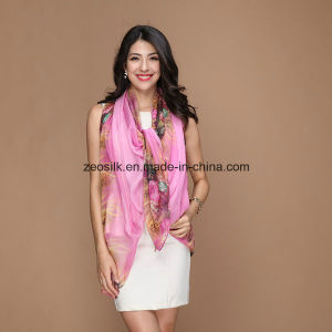 Chiffon Silk Scarf for Lady Zeo-042 pictures & photos