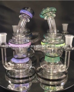 Double Color Small Glass Water Pipe Oil Rigs (CZS-441) pictures & photos