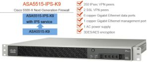 New Cisco (ASA5515-IPS-K8) Next-Generation Firewall