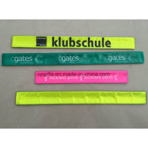 Custom Reflective PVC Slap Bracelet/ Silicone Slap Wristband pictures & photos
