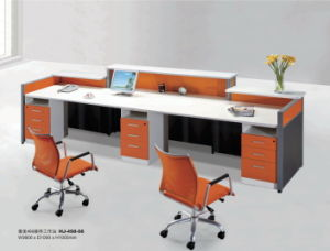 Popular Wooden Cubicle Office Reception Table pictures & photos