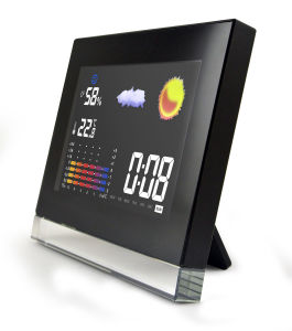 Weather Station Indoor and Outdoor Color LCD Clock with Temp&Humidity pictures & photos