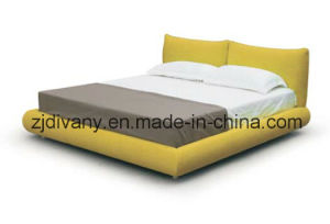 Modern Style Bedroom Furniture Wooden Leather Double Bed (A-B42) pictures & photos