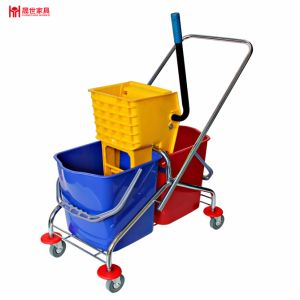 New Design Lateral Pressure Type Double Bucket Cleaning Trolley pictures & photos