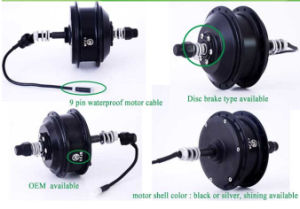 CZJB-92C Rear Drive Wheel Hub BLDC Geared E-Bike Motor 36V 350W with Wheel Rim and Spokes pictures & photos