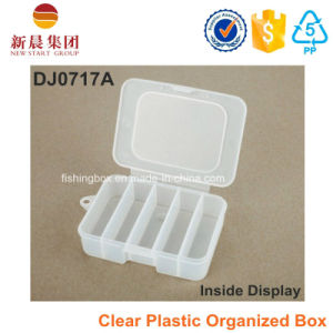 5 Compartment Clear Organized Plastic Box pictures & photos