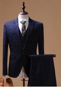 Men Half Canvas Groom Wedding Dress Fashion Suit pictures & photos