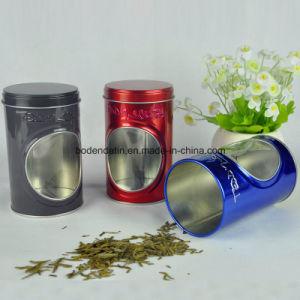 Custom Round Tea Tin Box with PVC Window China Supplier pictures & photos