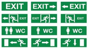 Wc Exit Sign, Emergency Light, LED Emergency Exit Sign, Wc Exit Sign pictures & photos