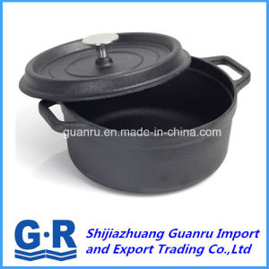 Black Cast Iron Cooking Pot pictures & photos