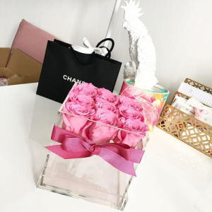 Hot Sale Christmas Gift Square Acrylic Flower Box pictures & photos